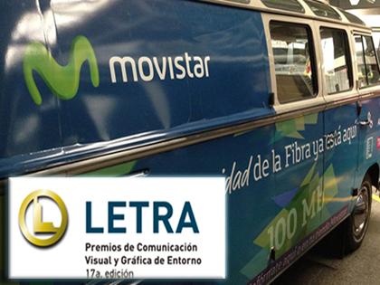 Furgoneta Movistar – PREMIO LETRA 2015